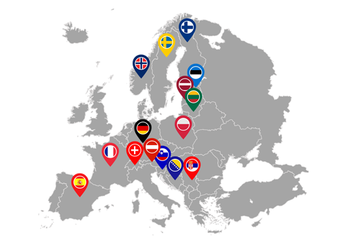 servisna mreža u Europi